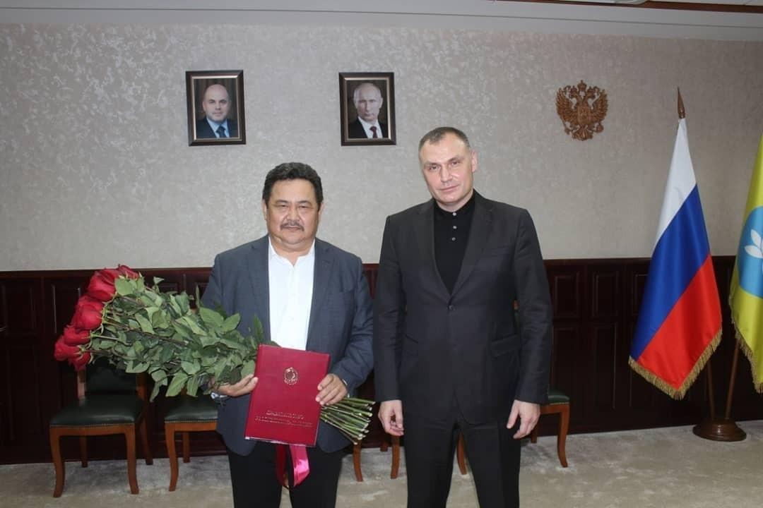Николай Манцаев отмечен Почетной грамотой Правительства республики