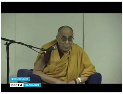 Буддисты Калмыкии встретились с Его Святейшеством Далай-ламой 14 в Финляндии