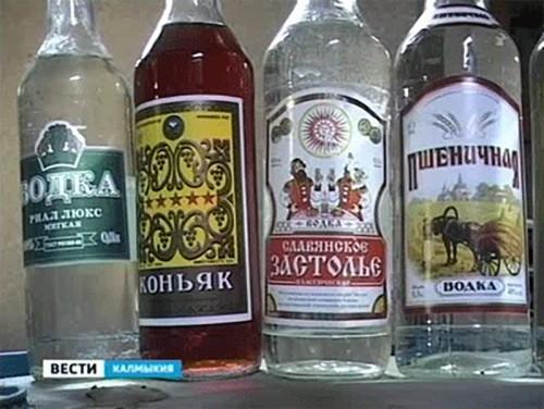 В Элисте задержан водитель, перевозивший безакцизный алкоголь
