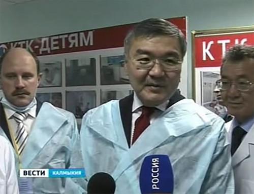 Глава Калмыкии принял работу по реконструкции республиканской детской больницы