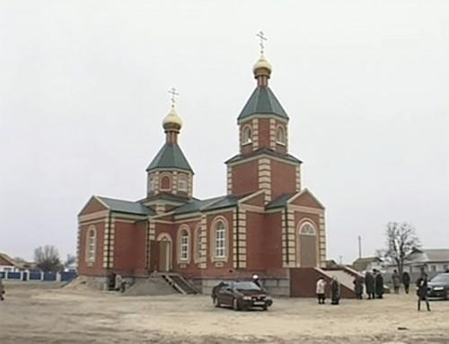В Лаганском районе состоялось открытие православного храма