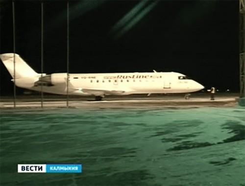 Самолет, совершавший вынужденную посадку из-за угрозы разгерметизации салона, прибыл в Элисту
