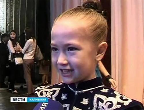 Победительница конкурса детской песни «Теегин Айс» — Саша Лагодина