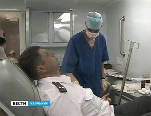 Более 200 сотрудников МВД Калмыкии стали донорами