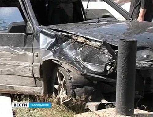 С начала недели на дорогах Калмыкии 1 человек погиб, 4 ранены