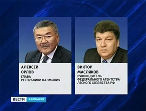 Алексей Орлов провел рабочую встречу с руководителем Рослесхоза России Виктором Масляковым