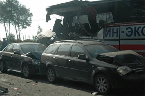 Калмыцкий пассажирский автобус попал в ДТП под Тверью