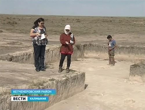На территории Калмыкии найдены поселения первых строителей курганов