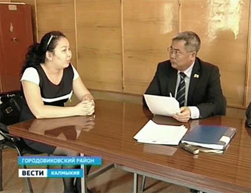 Депутаты Народного Хурала проводят прием граждан в Городовиковском районе