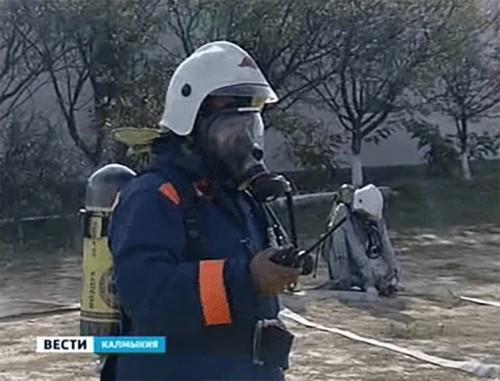 В Калмыкии проходят масштабные учения по гражданской обороне