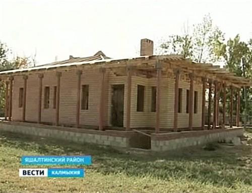 Хурул в Яшалтинском районе строят всем миром