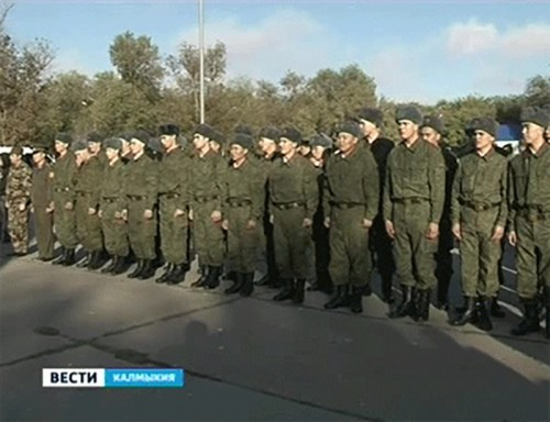 538 призывников из Калмыкии пополнят ряды вооруженных сил России