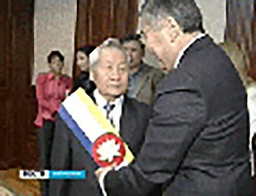 Ивану Уланову присвоено звание почетного гражданина Калмыкии