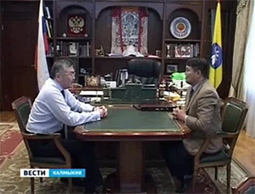 Алексей Орлов и Николай Очиров обсудили проблемы и перспективы развития нефтегазовой отрасли Калмыкии