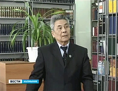 Народный поэт Калмыкии Владимир Нуров принимает поздравления с юбилеем