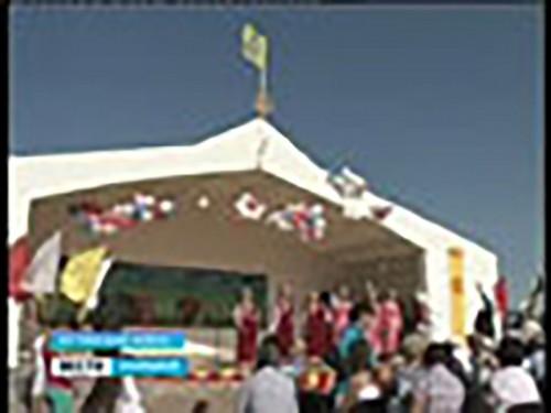 Жители Юстинского района отметили 75-летие района