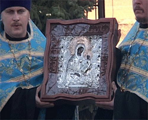 В Калмыкию доставлена чудотворная икона Иерусалимской Божьей Матери