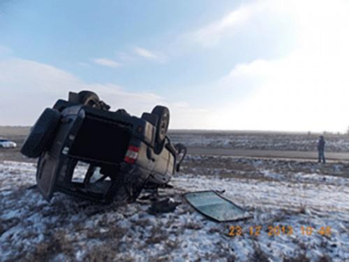 В Калмыкии столкнулись две иномарки, один человек погиб