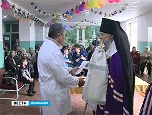 Элистинская и Калмыцкая епархия поздравила соцучреждения Элисты с Рождеством Христовым