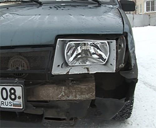 Сразу две аварии на одном перекрестке произошли в Элисте