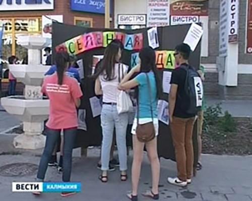 В Элисте прошел конкурс социальных акций «Полет мыслей»