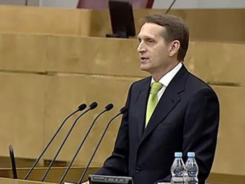 Нарышкин: Крым вернулся в Россию через 23 года после аннексии