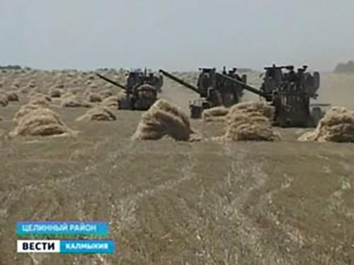 В хозяйства Калмыкии приступили к уборке зерновых и зернобобовых культур