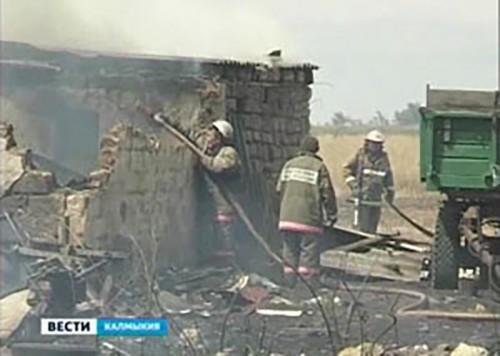 За минувшую неделю в Калмыкии зарегистрировано 3 пожара