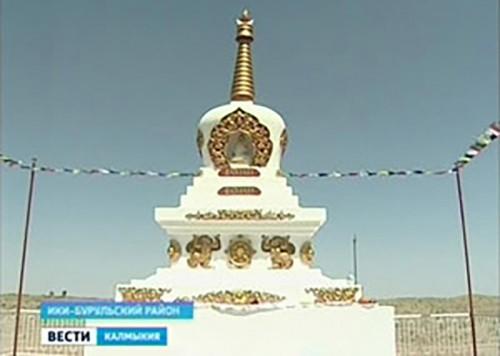 В Калмыкии возвели еще одну Ступу Просветления в п. Шатта Ики-Бурульского РМО