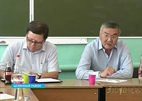 Алексей Орлов побывал с рабочим визитом в Целинном районе