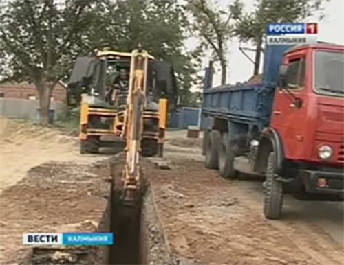 В Юго-западном районе Элисты началось строительство канализационных сетей