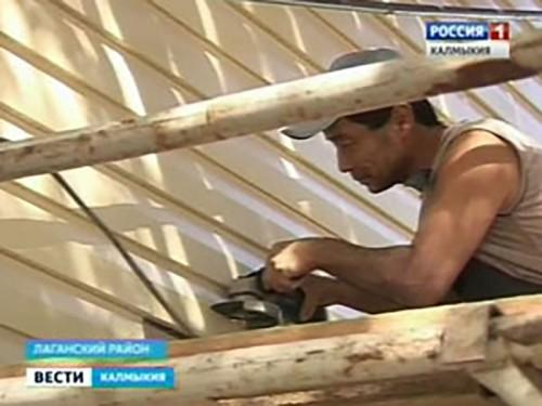 В Лагани ведутся работы по реконструкции социальных объектов