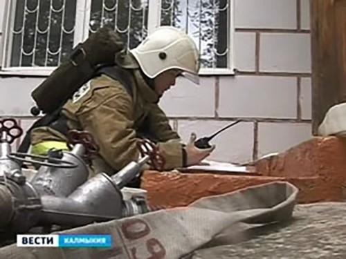 Калмыцкие спасатели провели тренировочные тактические учения