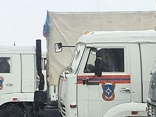 В Донбасс направилась девятая гуманитарная колонна МЧС