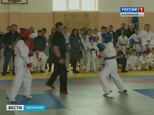 В учебном центре МВД состоялся первый открытый турнир Калмыкии по рукопашному бою