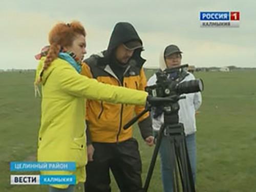 В Калмыкии съемочная группа телеканала «Моя планета» ведёт съемки нового телевизионного проекта «Земля героев»