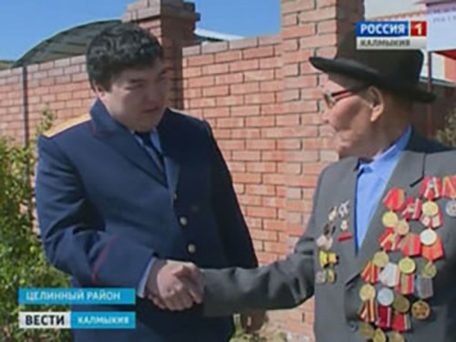 Ветераны Целинного района продолжают принимать поздравления к 70-летию Победы