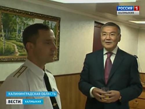 Командир малого противолодочного корабля «Калмыкия» поблагодарил руководство республики