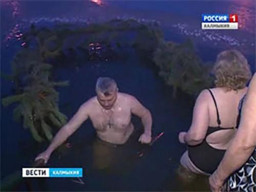 Православные верующие отмечают праздник Крещения Господня