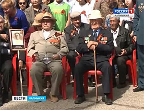 В Калмыкии широко отметили День Победы
