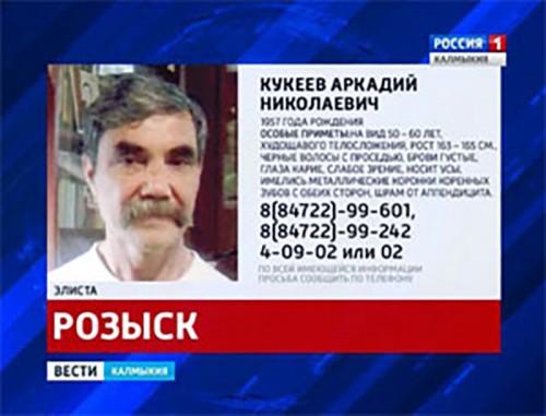 Разыскивается Кукеев Аркадий Николаевич