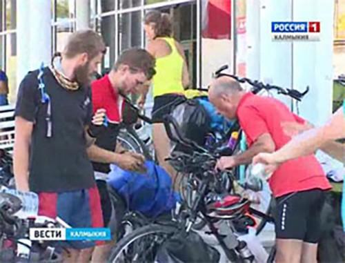 Калмыкию посетили польские велосипедисты