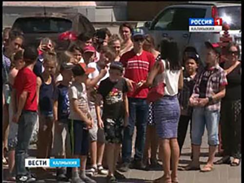 Дети из Луганской народной республики посетили Элисту