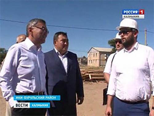Рабочая поездка главы республики Алексея Орлова в Ики-Бурульский район
