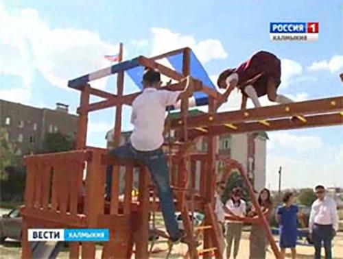 Общественная палата Калмыкии реализовала игровые зоны для детей