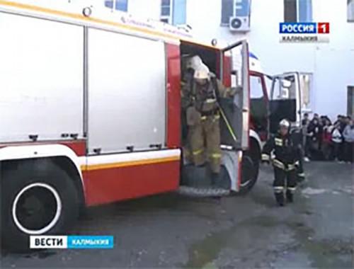 На территории телевидения прошли тактико-пожарные учения