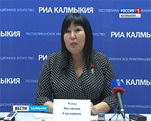 Руководитель УФАС Манца Сангаджиева пообщалась с прессой