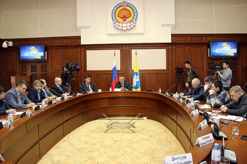 Ежегодная встреча Главы Калмыкии Алексея Орлова с руководителями республиканских СМИ