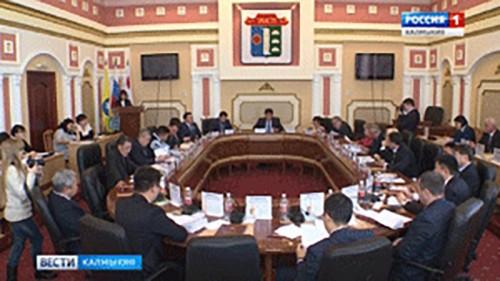 В Элисте проходит заседание Элистинского городского Собрания пятого созыва