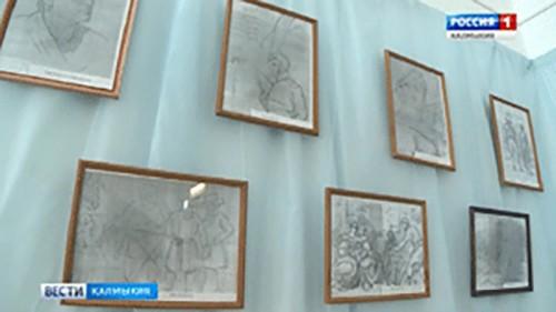 В Элистинском лицее представлена фотовыставка о русском художнике Алексее Егорове